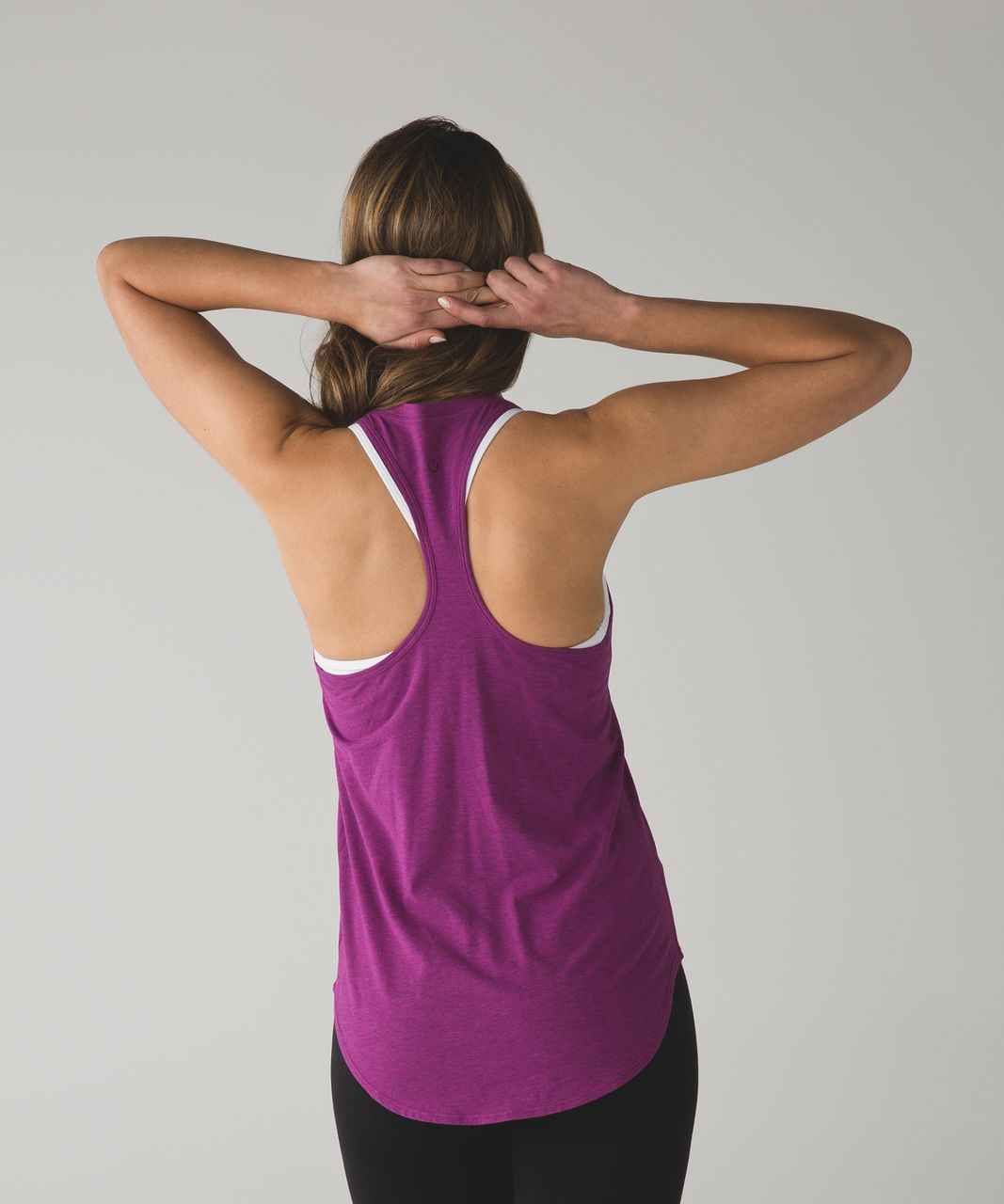Lululemon Yogi Racer Back III - Heathered Regal Plum