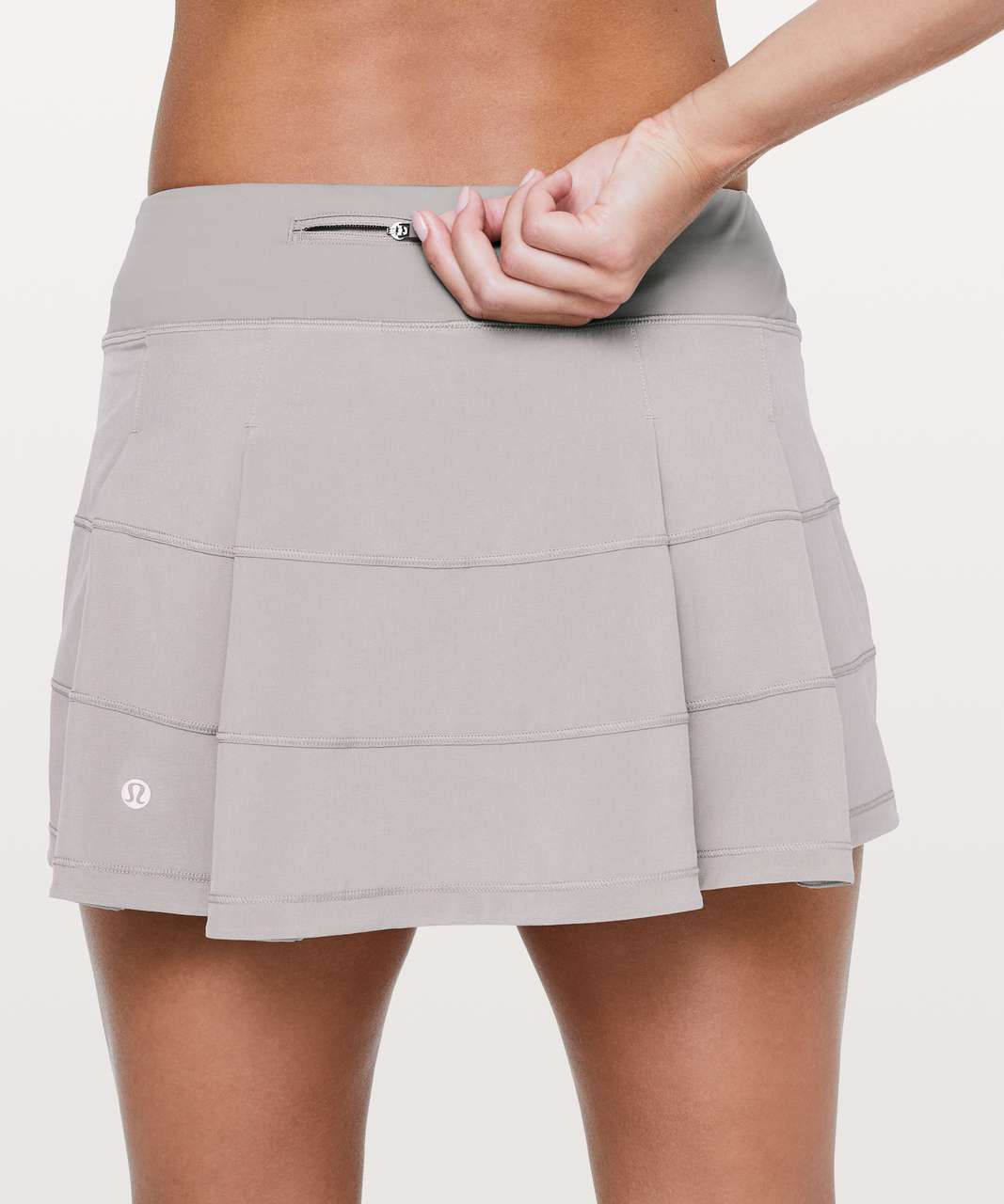 "Lululemon Pace Rival Skirt (Regular) *4-way Stretch 13"" - Dark Chrome"