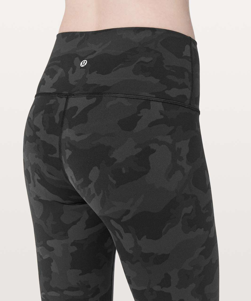 "Lululemon Wunder Under Crop (Hi-Rise) *Full-On Luon 21"" - Incognito Camo Multi Grey"
