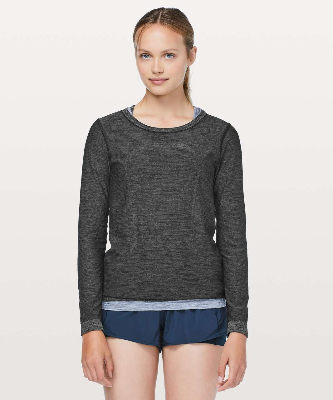 Lululemon Swiftly Tech Long Sleeve (Breeze) *Relaxed Fit - Black / Anchor