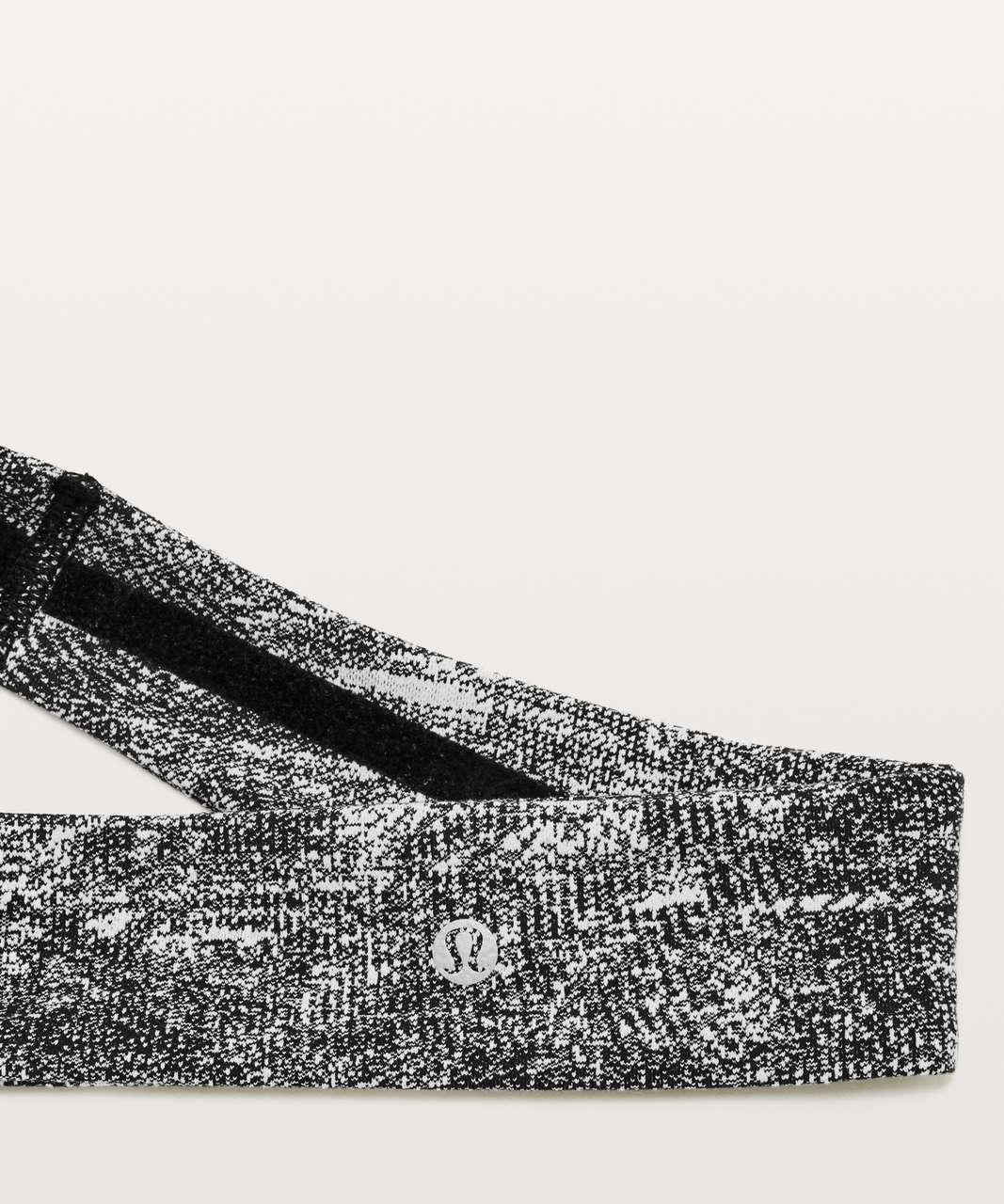 Lululemon Fly Away Tamer Headband II - Rush Jacquard Black White