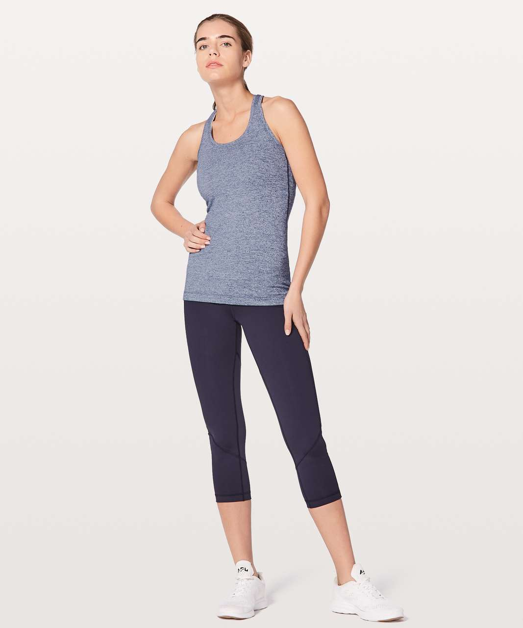 Lululemon Cool Racerback II - Heathered Hero Blue