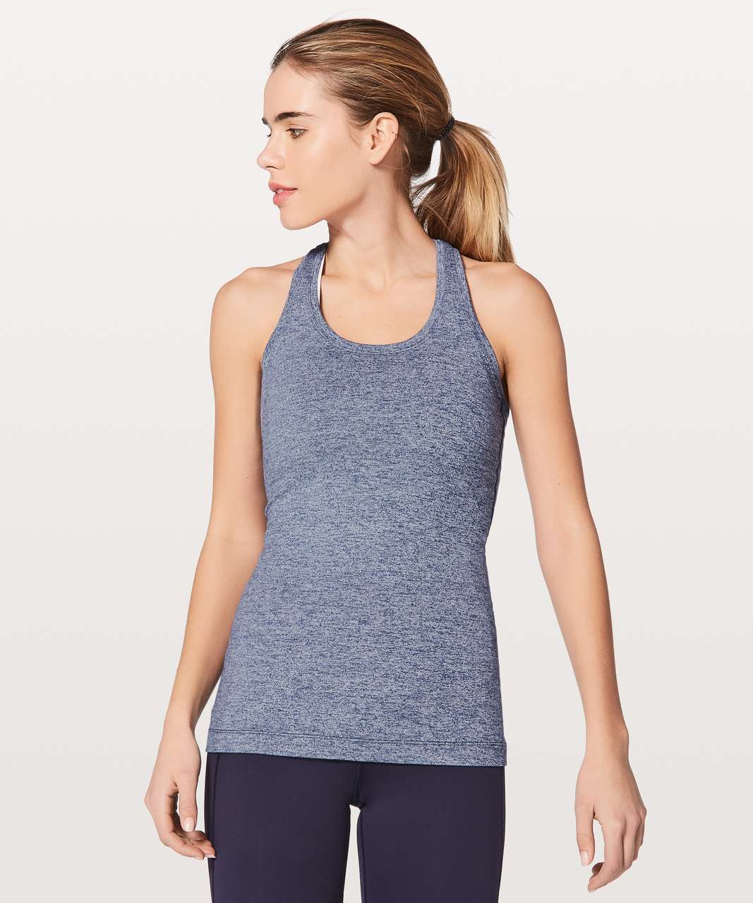31d8fe0157 Lululemon Cool Racerback II - Heathered Hero Blue - lulu fanatics