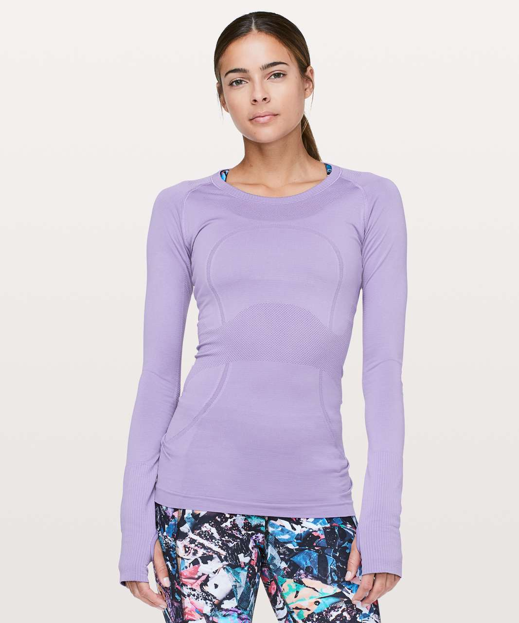 Lululemon Swiftly Tech Long Sleeve Crew - Enchanted Iris / Enchanted Iris