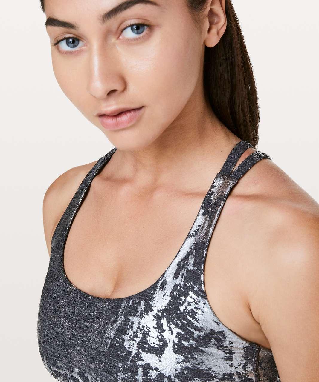 Lululemon Energy Bra - Crinkle Heather Brindle High Shine Foil