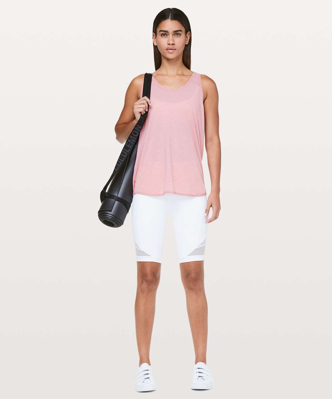 Lululemon Essential Tank - Heathered Rose Tea