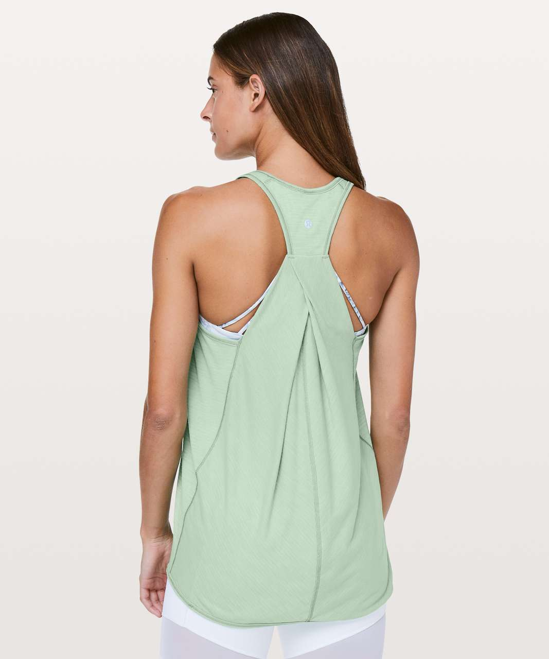 b0c33a9f3dcd73 Lululemon Essential Tank - Heathered Opal Green - lulu fanatics