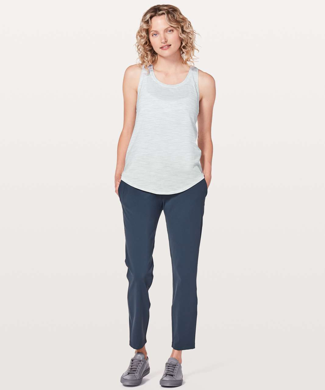 Lululemon Love Tank *Pleated - 3 Colour Space Dye Ice Grey Alpine White (First Release)