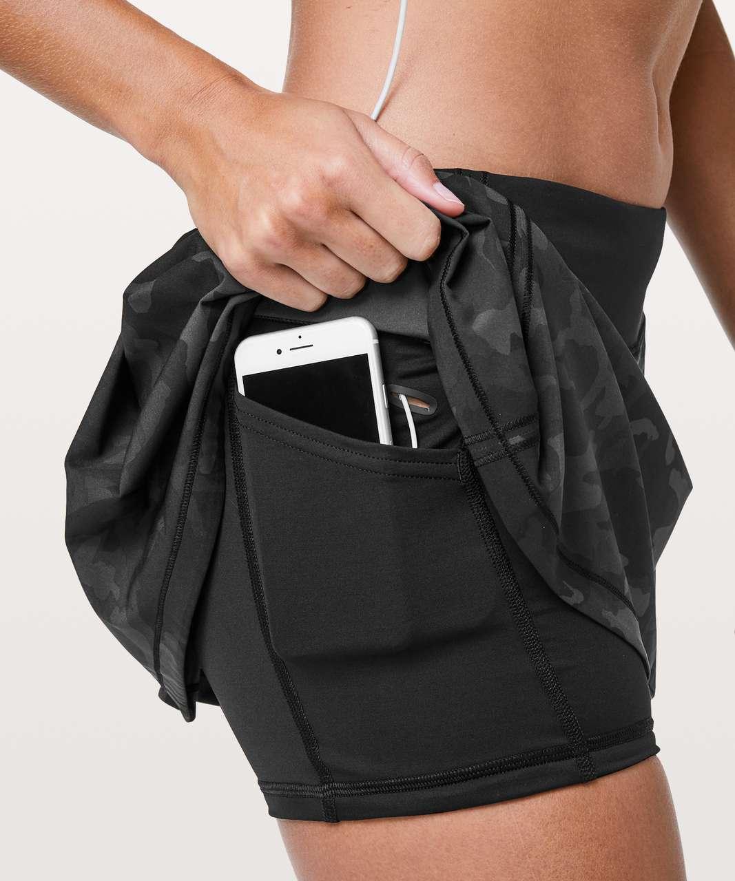 Lululemon Pace Rival Skirt (Regular) *No Panels - Incognito Camo Multi Grey / Black