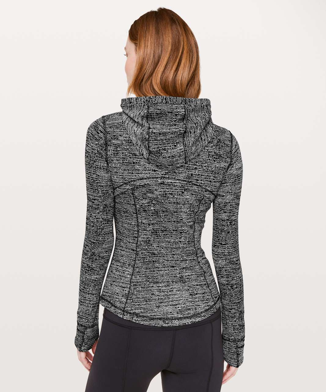 Lululemon Hooded Define Jacket *Nulu - Twillines White Black