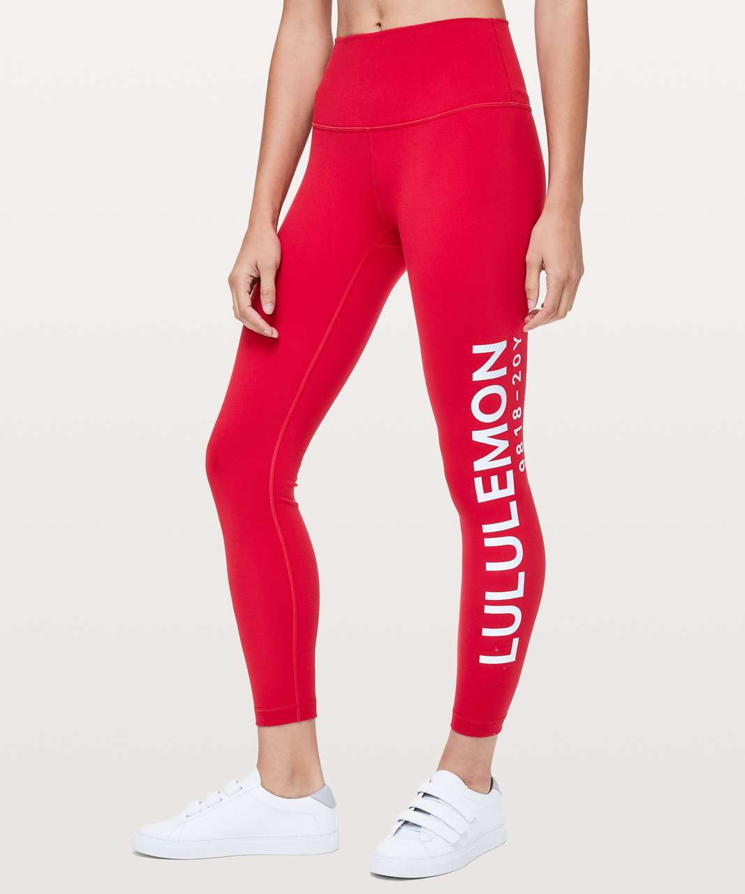 "Lululemon Wunder Under Hi-Rise 7/8 Tight *20Y Collection 25"" - Dark Red"