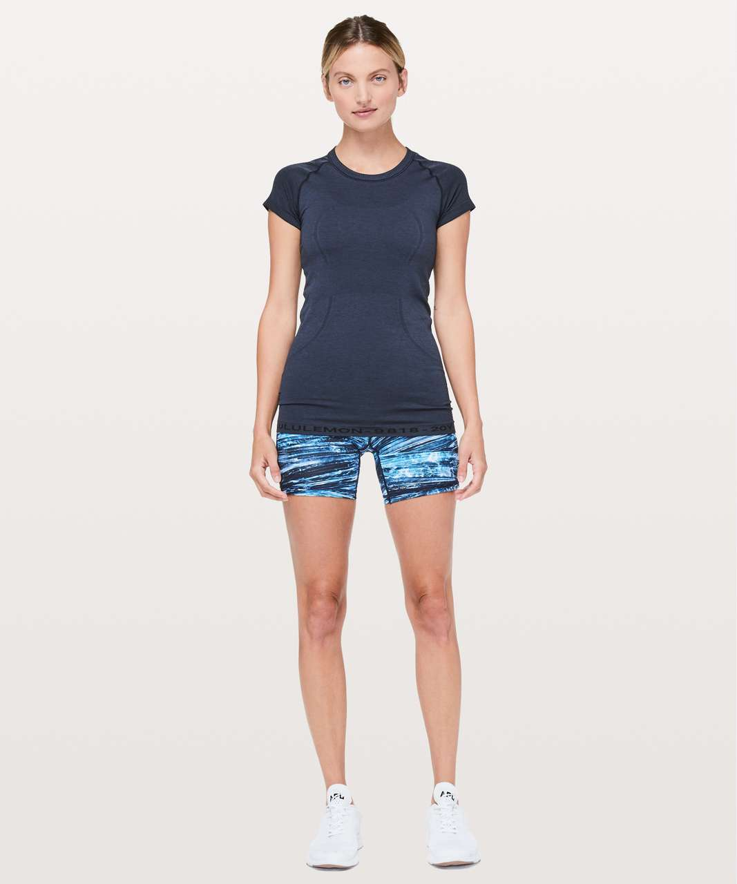 Lululemon Swiftly Tech Short Sleeve Crew *20Y Collection - True Navy / Black