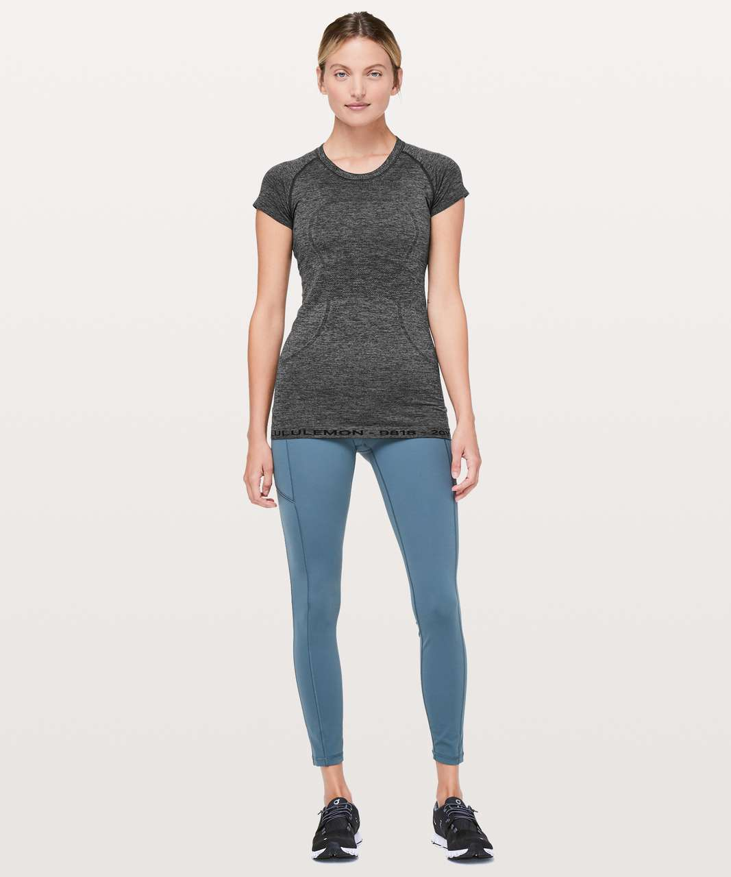 Lululemon Swiftly Tech Short Sleeve Crew *20Y Collection - Black / Anchor