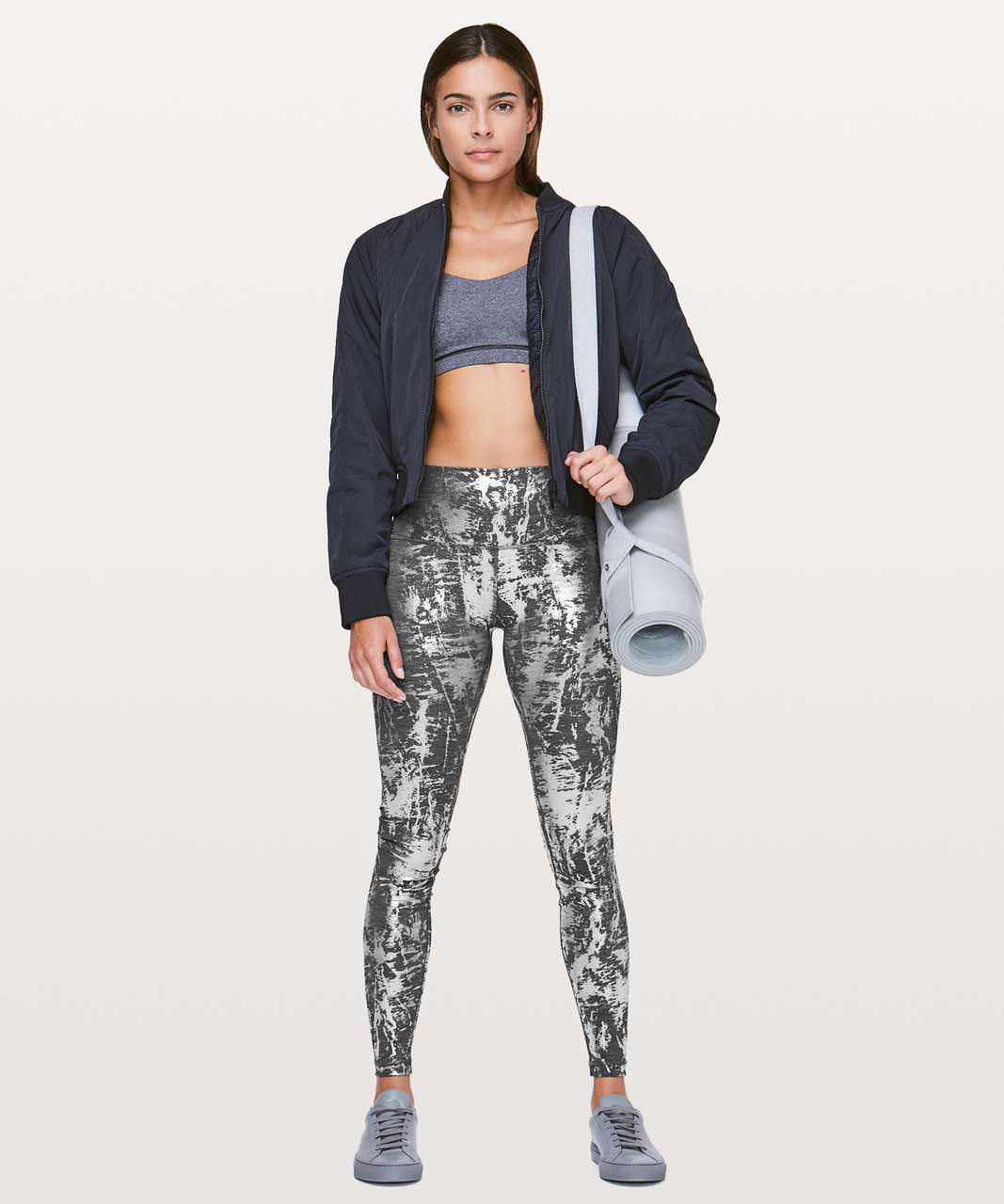 "Lululemon Wunder Under Hi-Rise Tight *Brindle Foil 28"" - Crinkle Heather Brindle High Shine Foil"