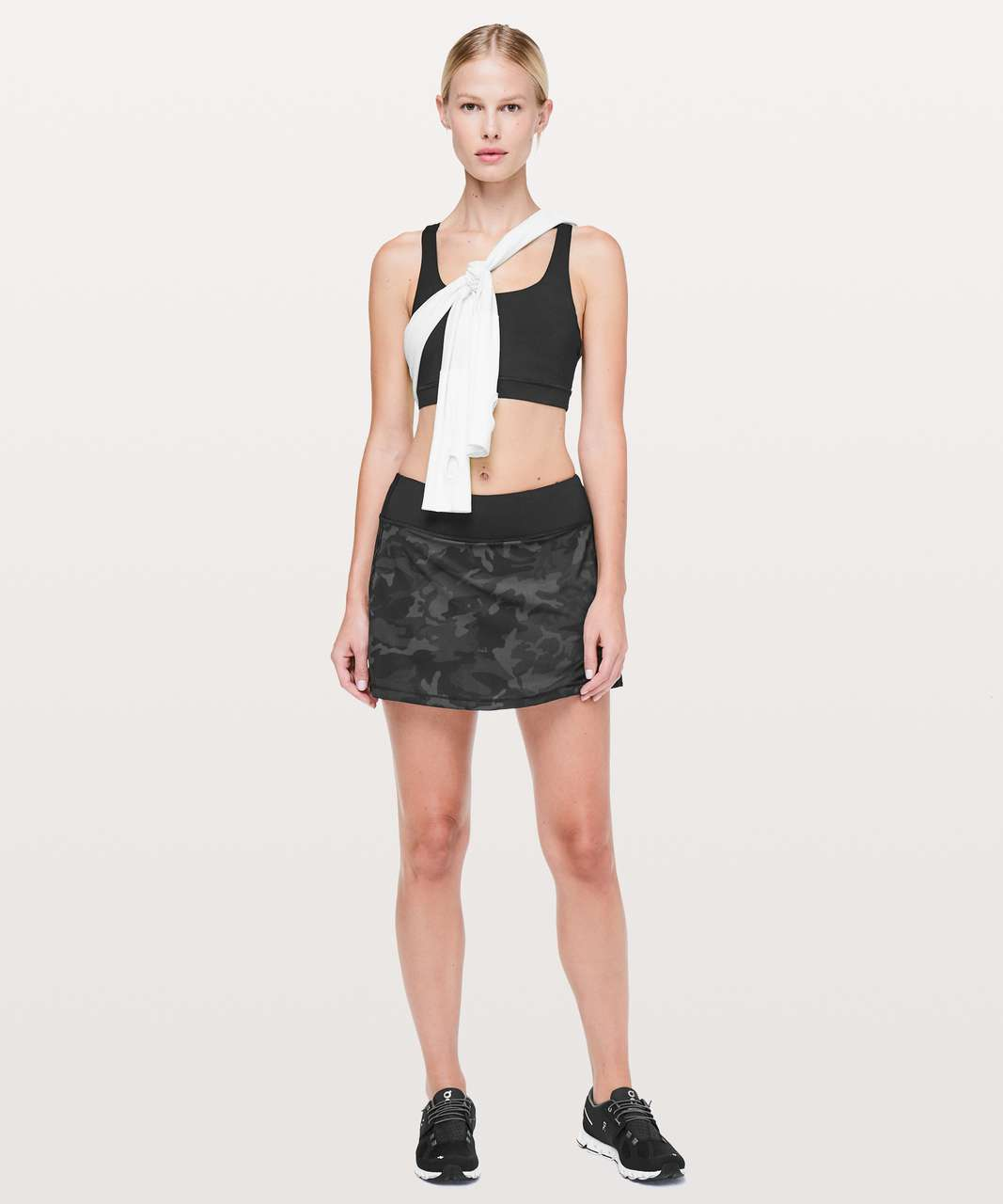 Lululemon Pace Rival Skirt (Tall) *No Panels - Incognito Camo Multi Grey / Black