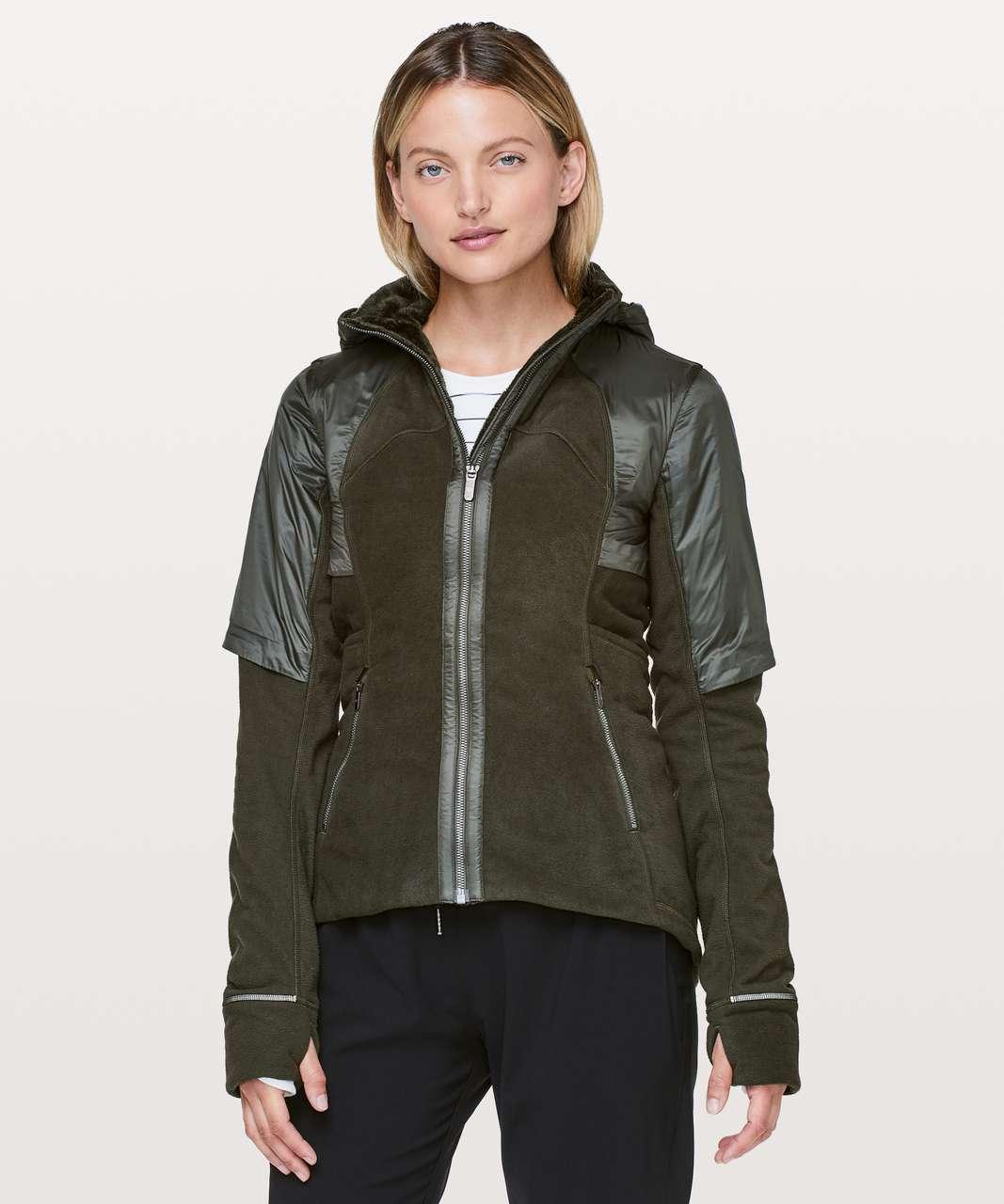Lululemon Fleece Of Mind Jacket - Dark Olive