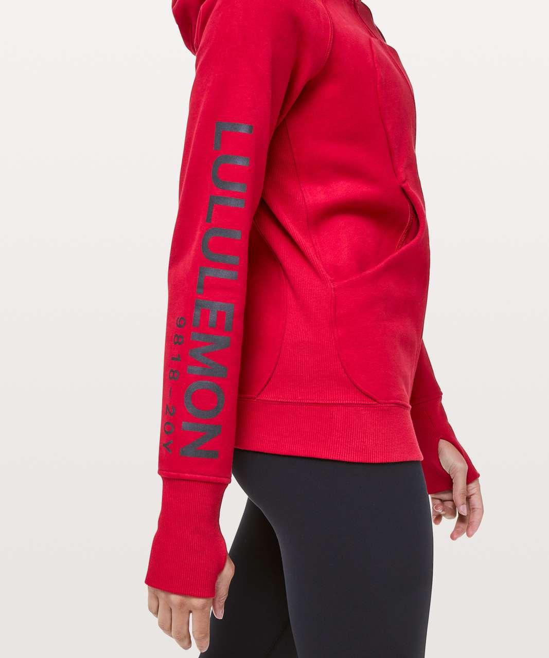 Lululemon Scuba Hoodie *20Y Collection Classic Cotton Fleece - Dark Red