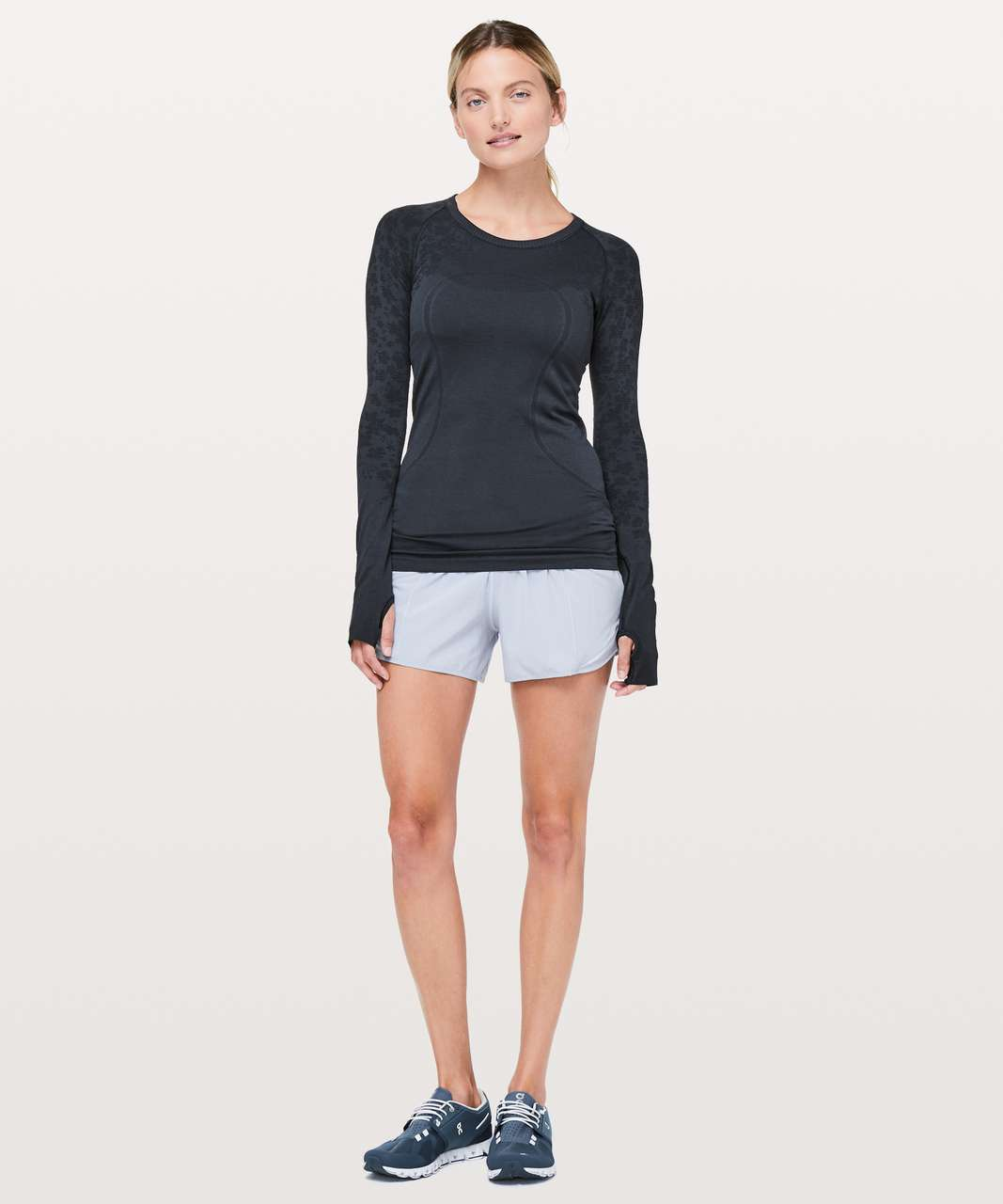 Lululemon Swiftly Tech Long Sleeve Crew - True Navy / Black