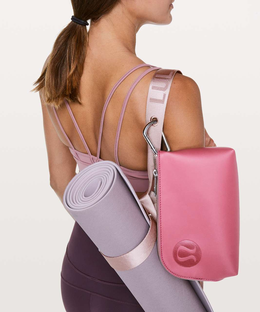 Lululemon Loop It Up Mat Strap *Squad - Porcelain Pink / Misty Mauve
