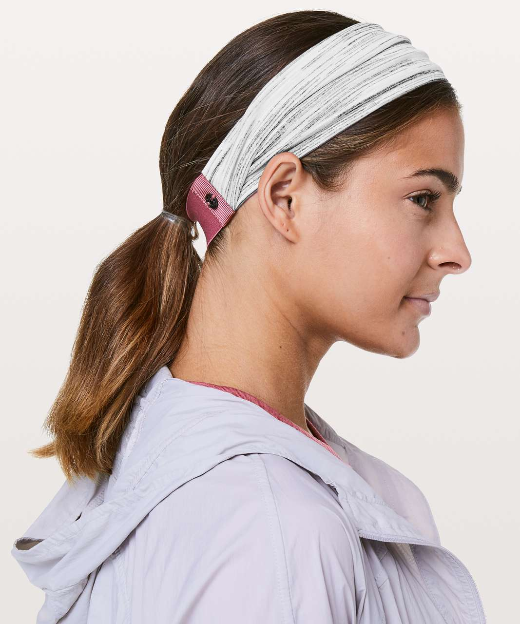 Lululemon Fringe Fighter Headband - Heathered Cherry Tint / Space Dye Camo White Silver Spoon