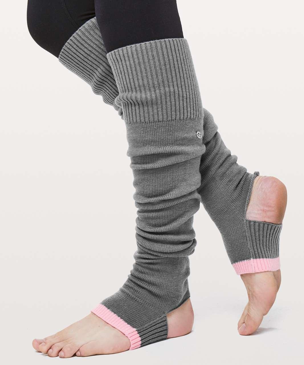 Lululemon Evolution Leg Warmers - Slate / Bleached Coral