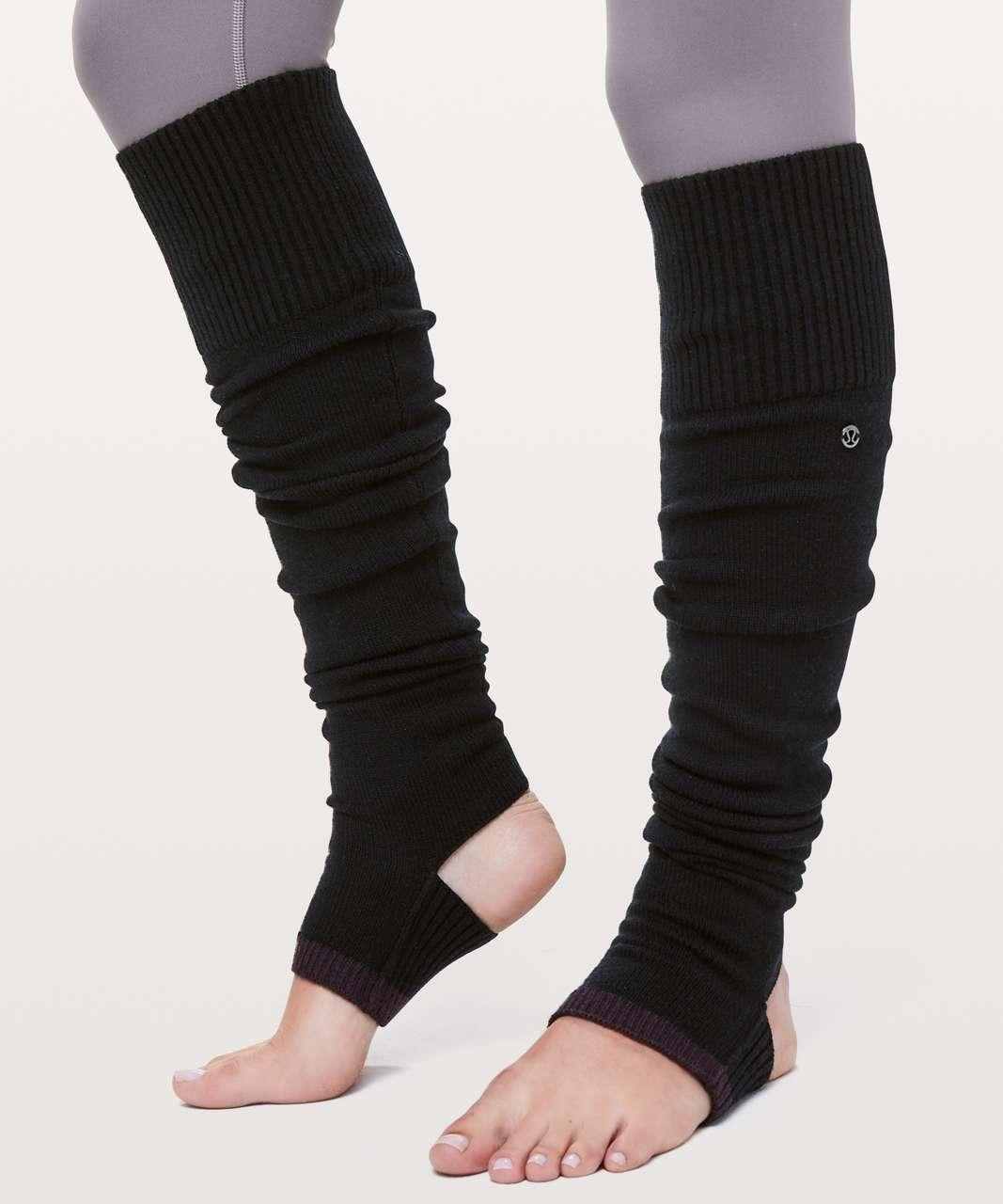 Lululemon Evolution Leg Warmers - Black / Black Cherry