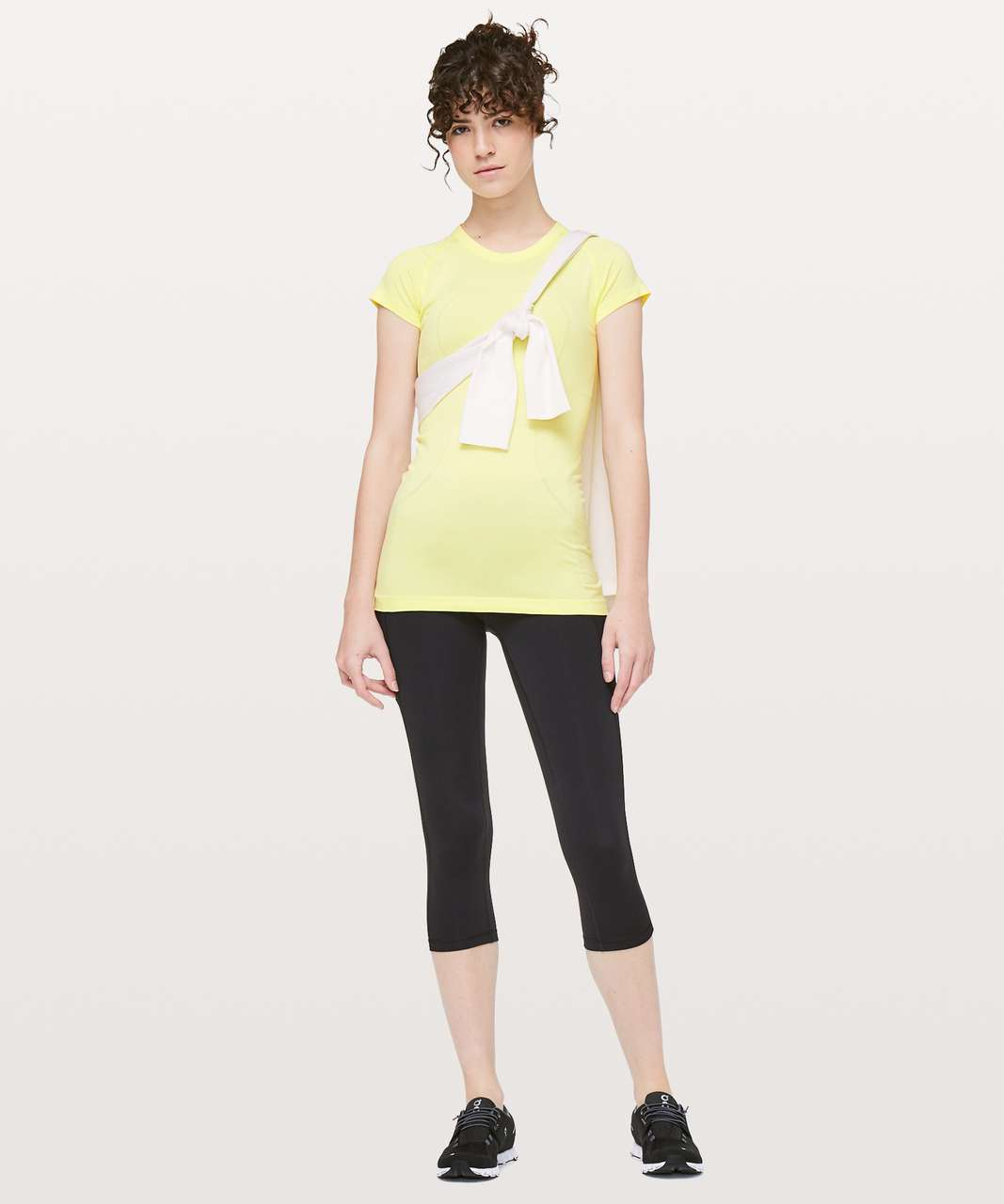 Lululemon Swiftly Tech Short Sleeve Crew - Lemon Ice / Lemon Ice