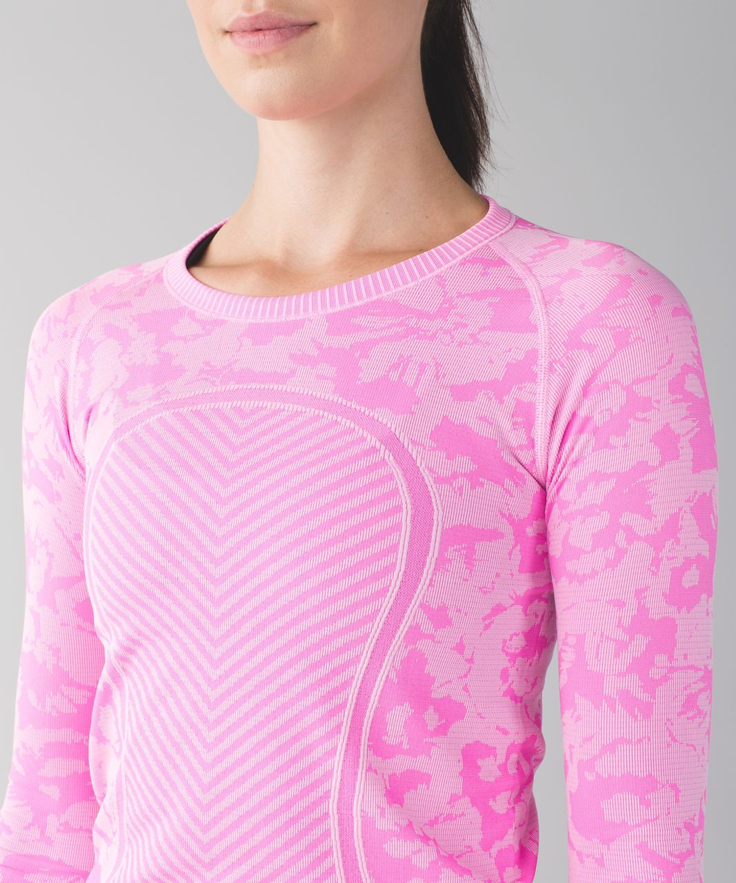 Lululemon Swiftly Tech Long Sleeve Crew - Heathered Raspberry Glo Light (First Release)