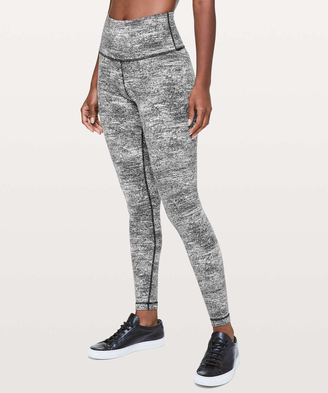 "Lululemon Wunder Under Hi-Rise Tight *28"" - Rush Jacquard Black White"