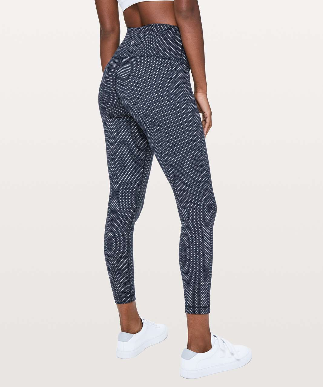 "Lululemon Wunder Under Hi-Rise 7/8 Tight *25"" - Pacific Pointe Jacquard True Navy Onyx Blue"
