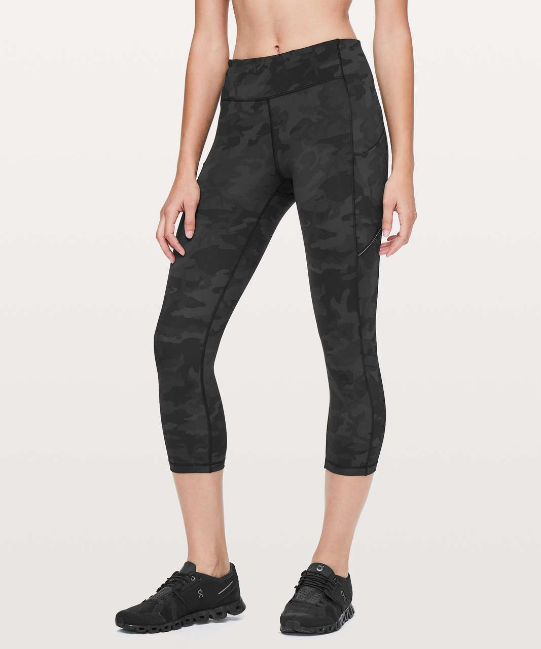 "Lululemon Speed Up Crop *21"" - Incognito Camo Multi Grey"