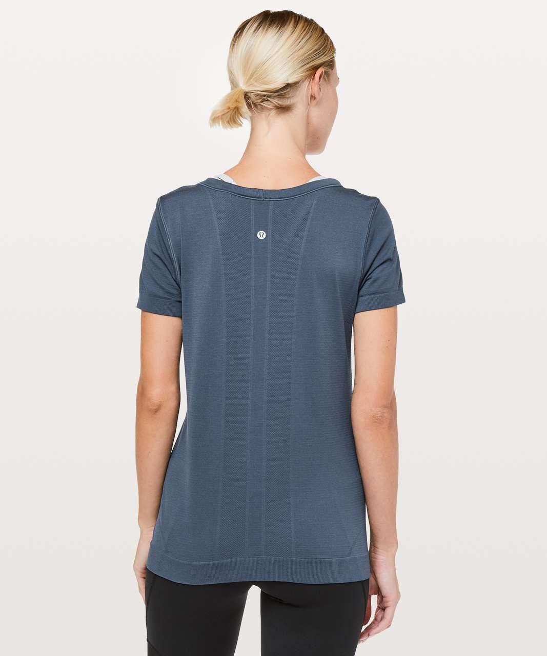Lululemon Swiftly Tech Short Sleeve (Breeze) *Relaxed Fit - Thunder Blue / Thunder Blue