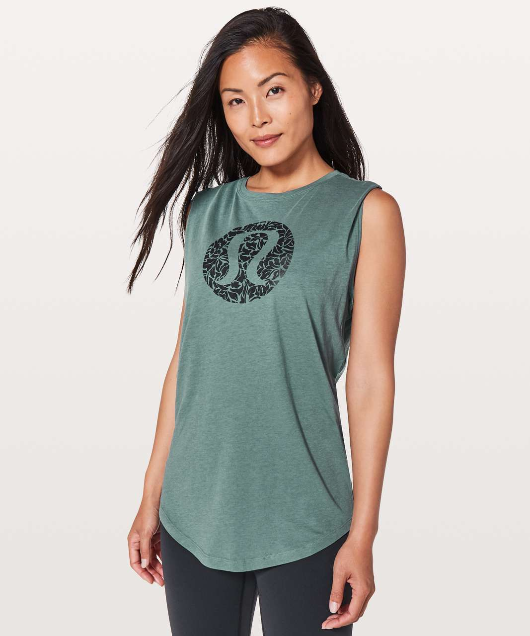 062805de Lululemon Brunswick Muscle Tank *Expression - Graphite Green - lulu fanatics