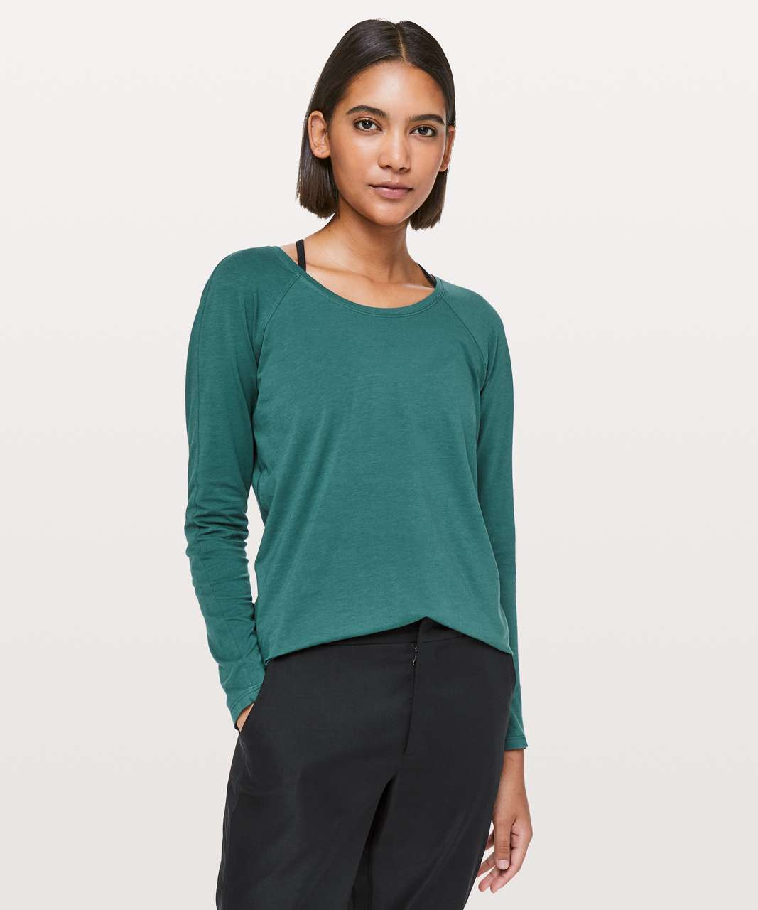 Lululemon Emerald Long Sleeve - Green Jasper
