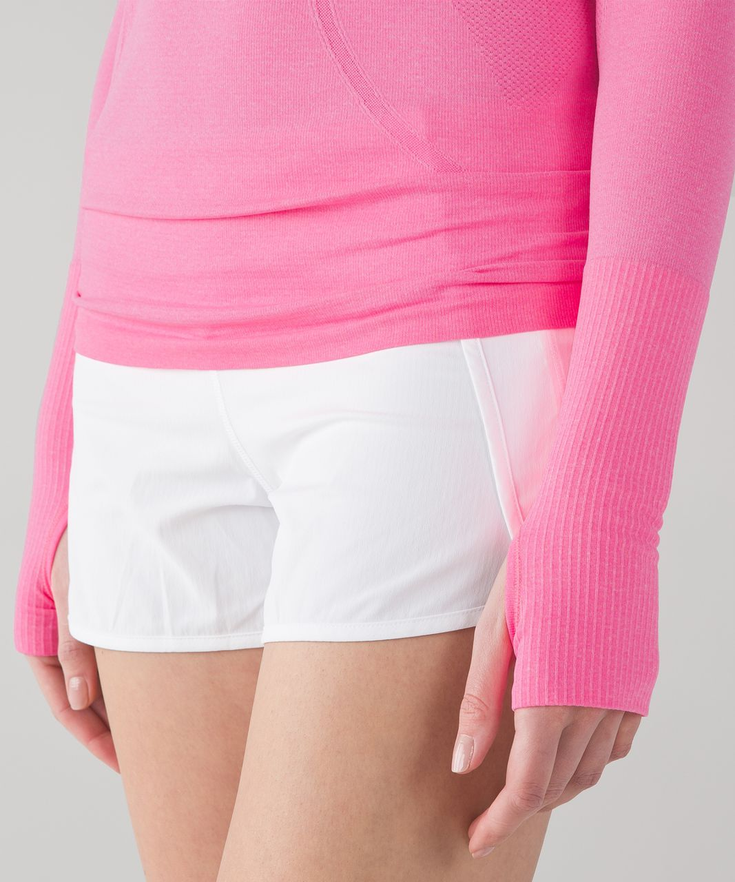 Lululemon Swiftly Tech Long Sleeve Crew - Heathered Neon Pink