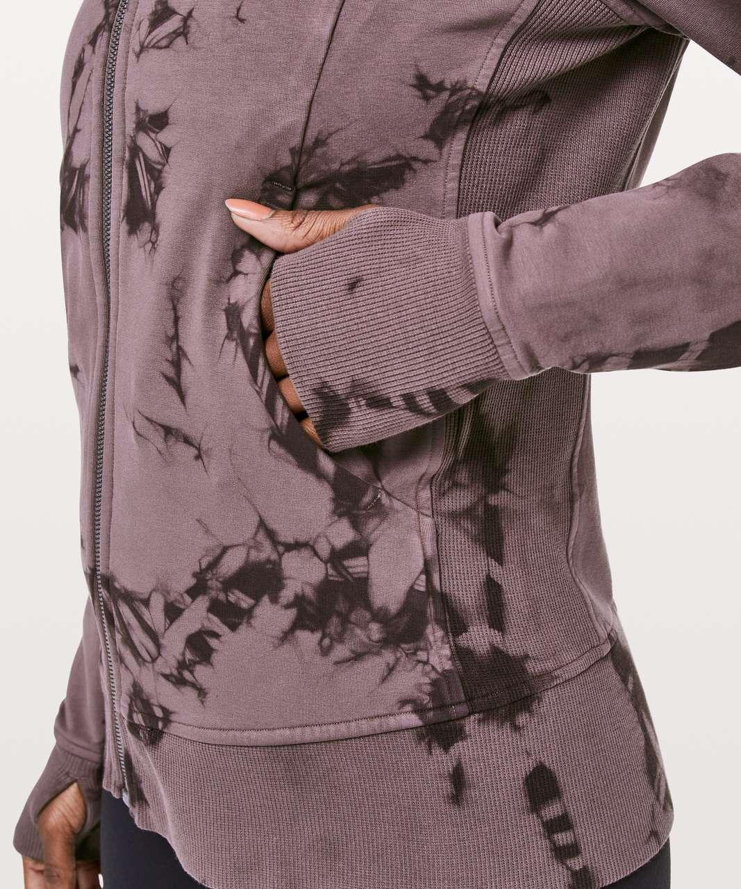 Lululemon Scuba Hoodie *Light Cotton Fleece Shibori - Shibori Antique Bark Black Satin