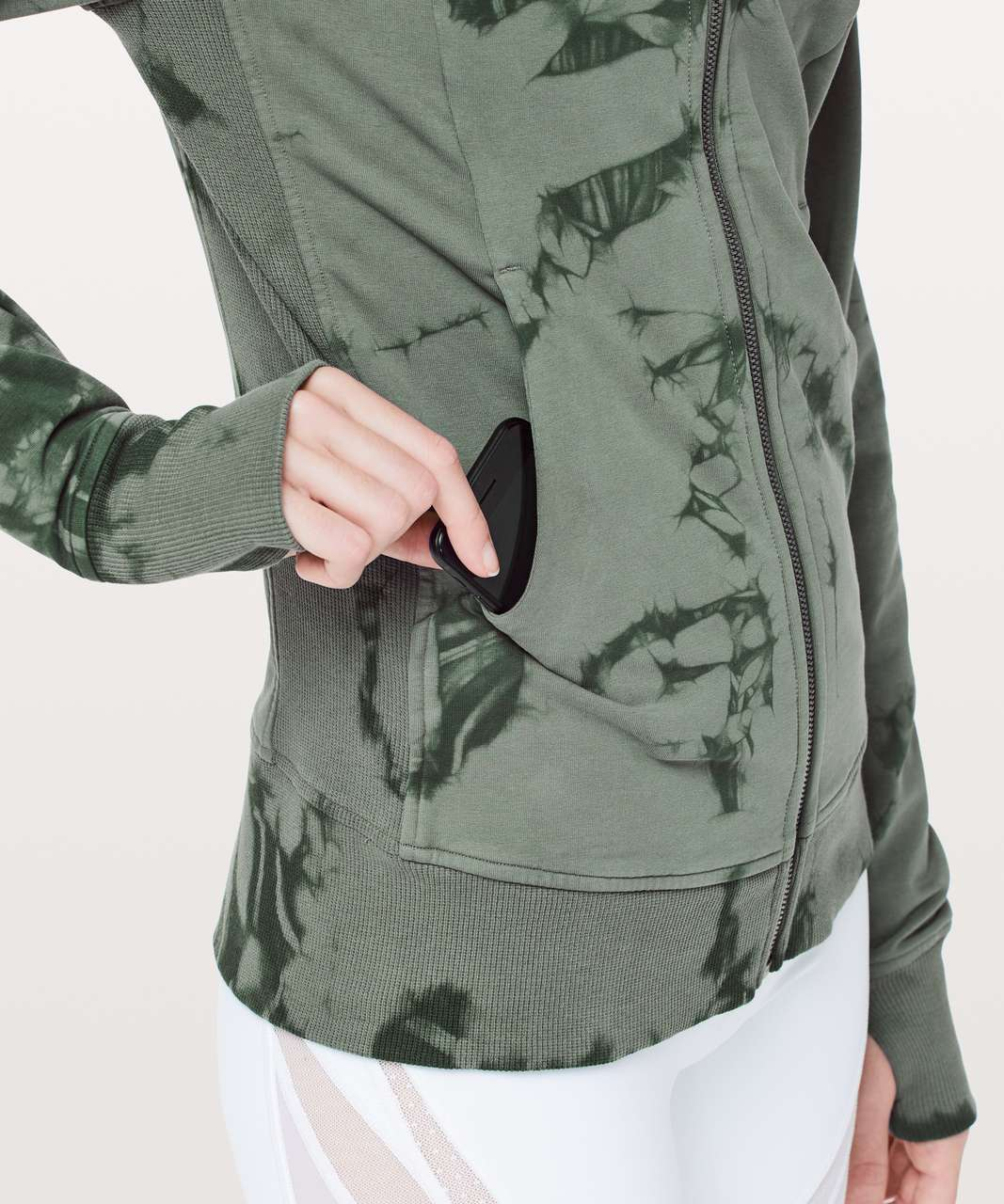 Lululemon Scuba Hoodie *Light Cotton Fleece Shibori - Shibori Misty Meadow Deep Ivy