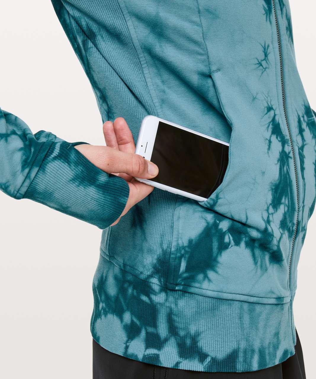 Lululemon Scuba Hoodie *Light Cotton Fleece Shibori - Shibori Slate Blue Jet Blue