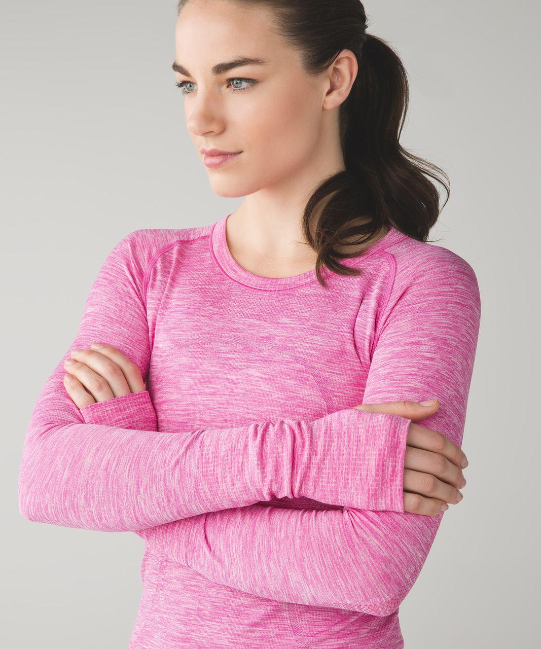 Lululemon Swiftly Tech Long Sleeve Crew - Heathered Pink Paradise