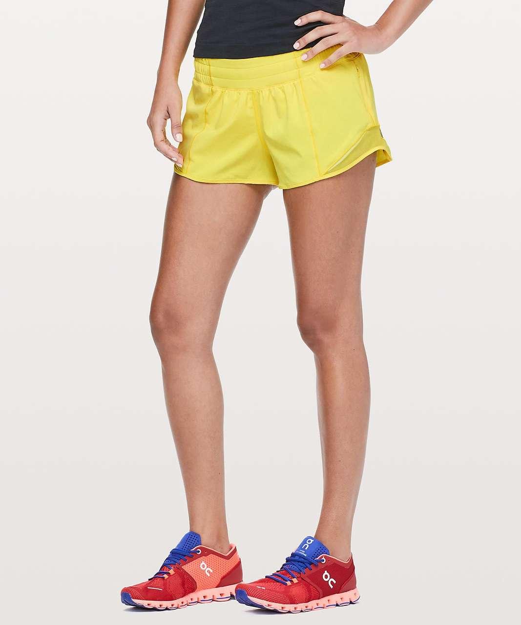 """Lululemon Hotty Hot Short II *SW 2.5"""" - Sonic Yellow"""