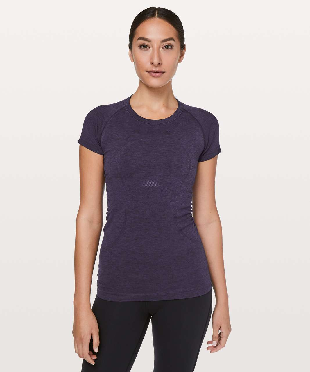 Lululemon Swiftly Tech Short Sleeve Crew - Dark Court Purple / Black