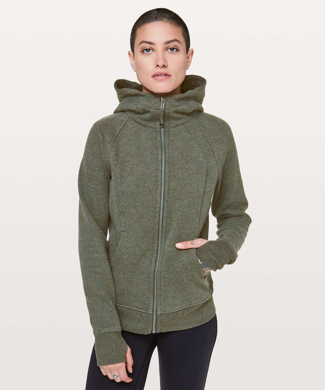 how to purchase super quality best website Lululemon Scuba Hoodie *Light Cotton Fleece - Heathered Camo Green