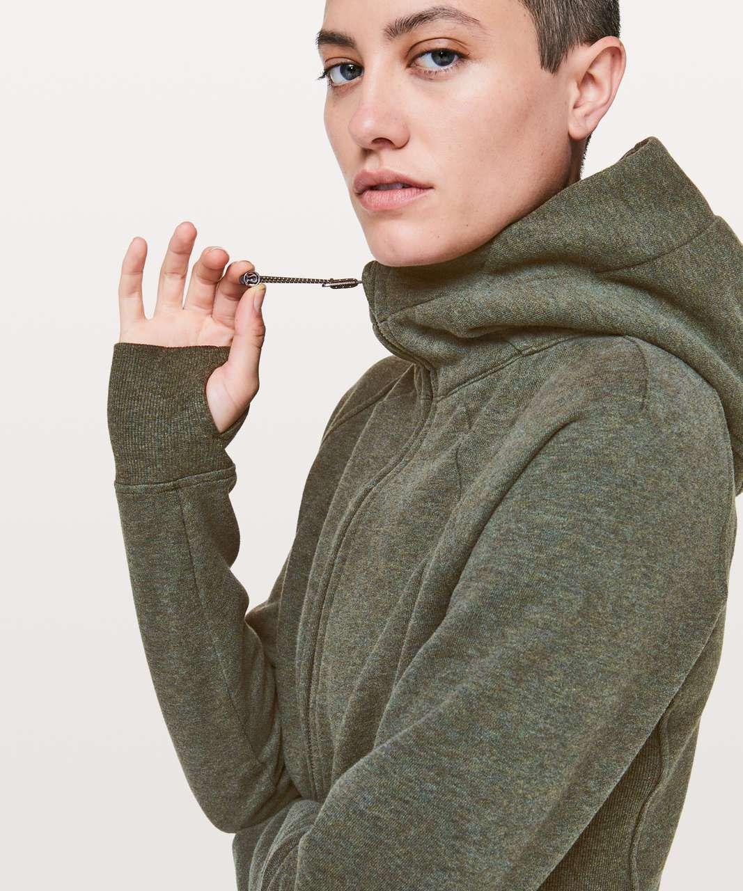 Lululemon Scuba Hoodie *Light Cotton Fleece - Heathered Camo Green