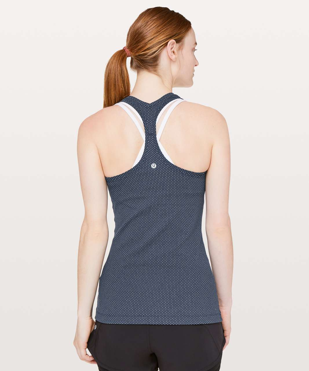 Lululemon Cool Racerback II - Pacific Pointe Jacquard True Navy Onyx Blue