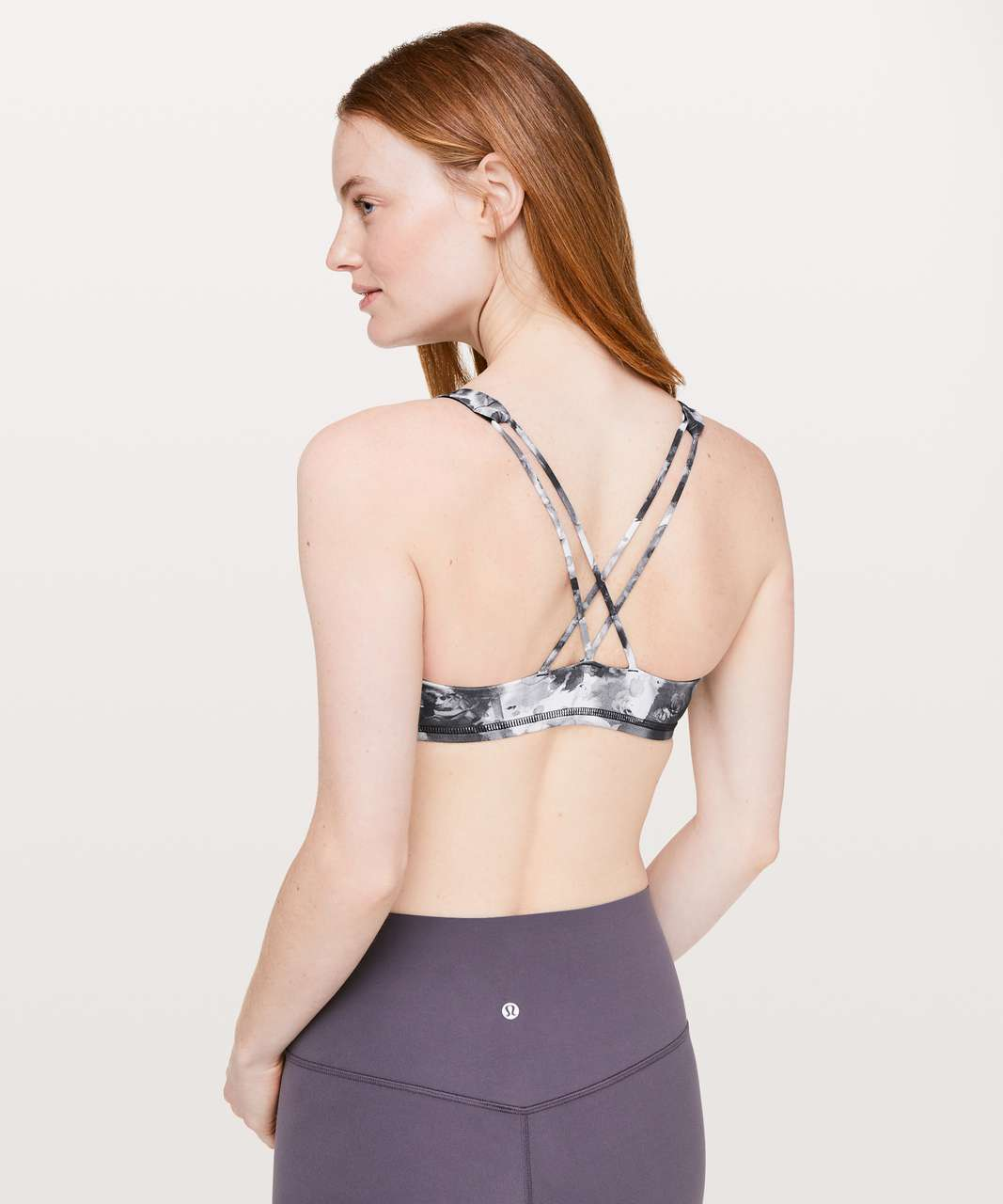 Lululemon Free To Be Bra - Mini Obscurred Black Dusty Mauve