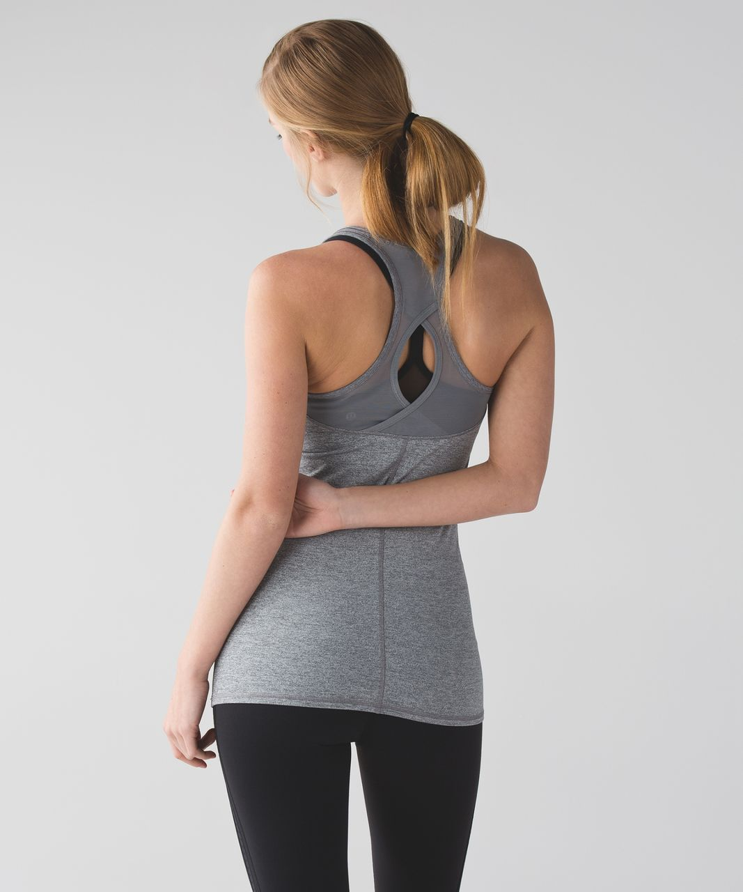 Lululemon Cool Racerback Exhale - Heathered Slate / Battleship