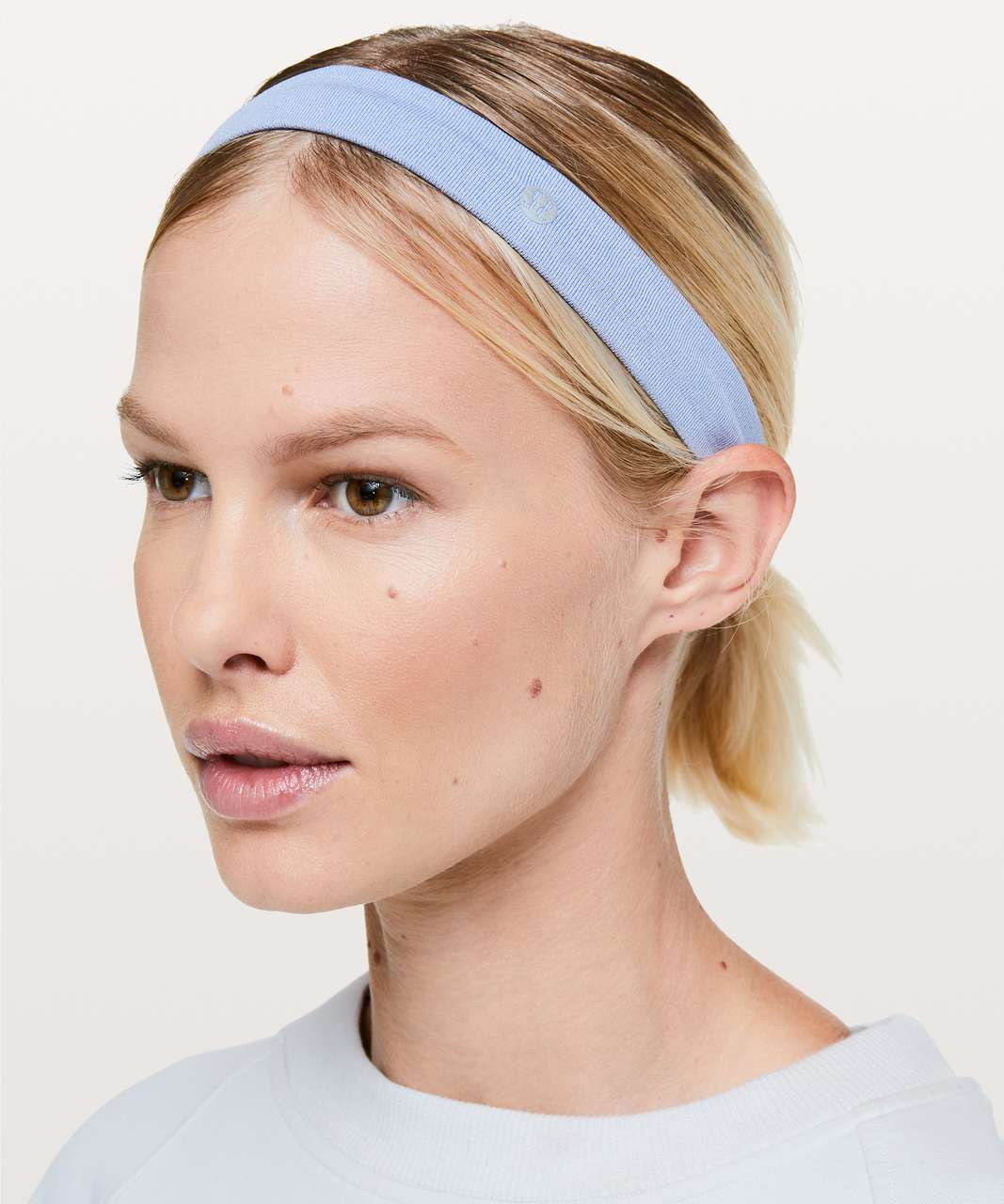 Lululemon Cardio Cross Trainer Headband - Iron Purple / White