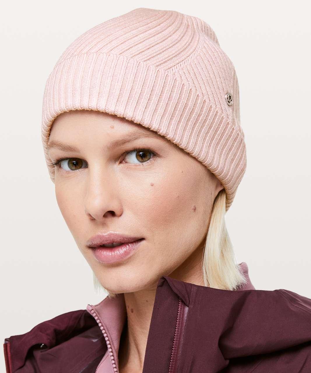6756bce8cd684 Lululemon Twist Of Cozy Knit Beanie - Heathered Rose Tea - lulu fanatics