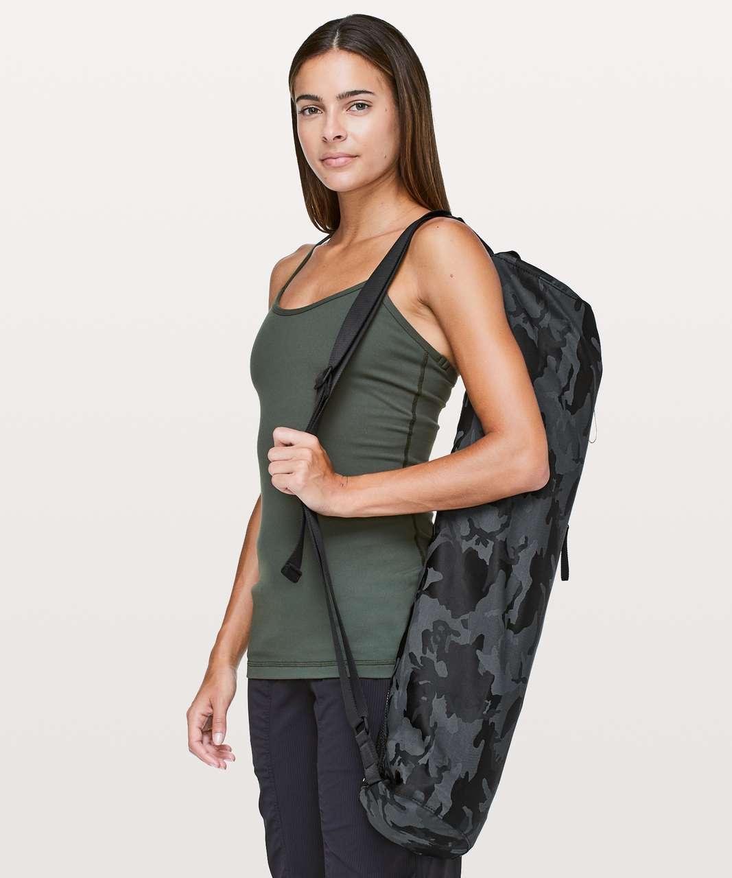 Lululemon Get Rolling Yoga Mat Bag *17L - Jacquard Camo Cotton Obsidian / Black