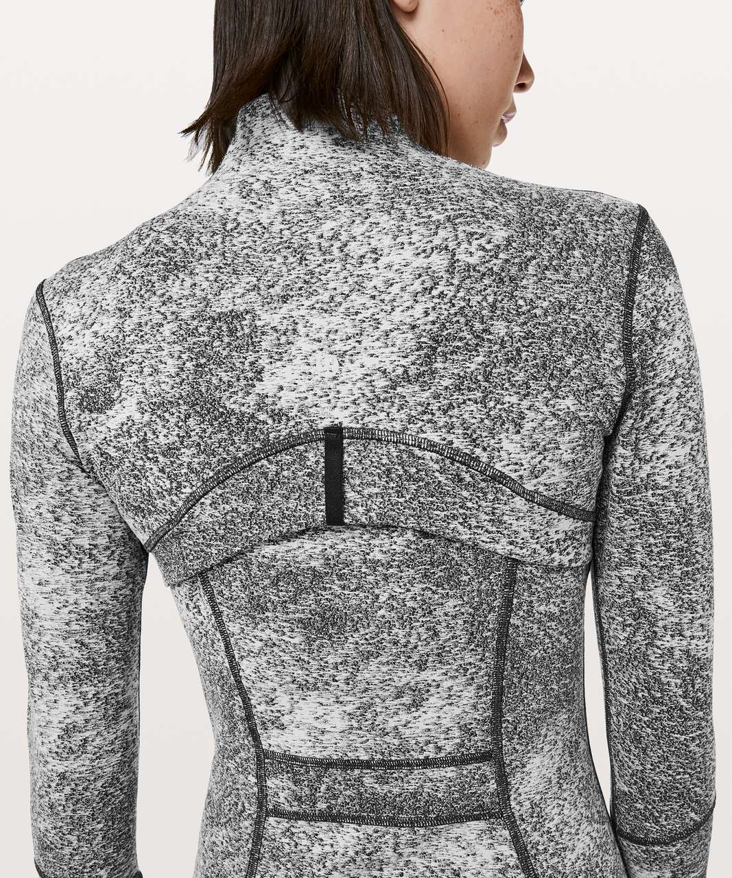 Lululemon Define Jacket - Luon Spray Jacquard White Black